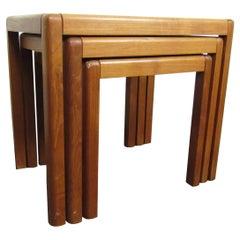 Set of Three Danish Nesting Side Tables