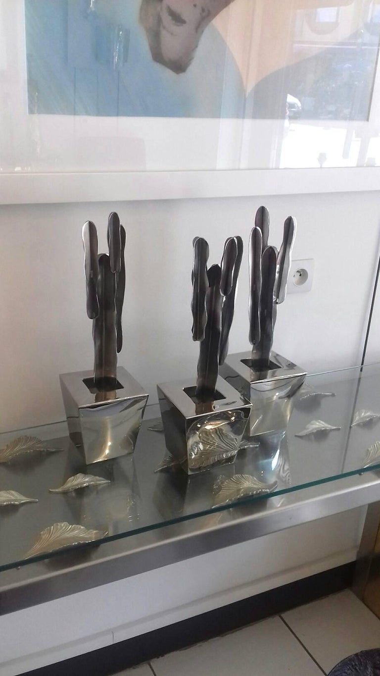 Set of Three Decorative Cactus In Excellent Condition For Sale In Saint-Ouen, FR