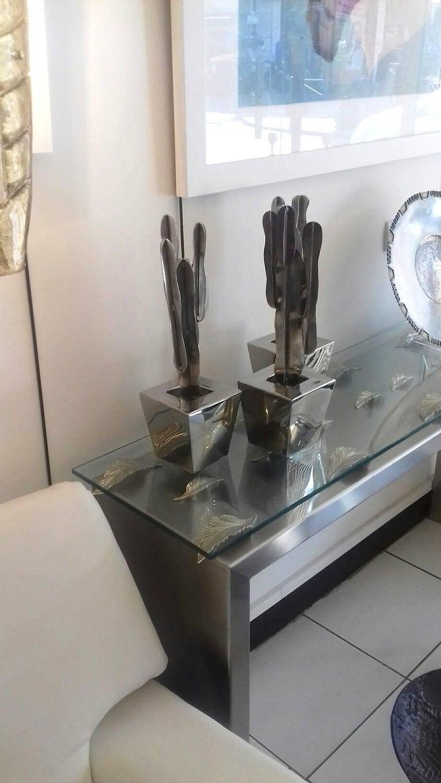 Set of Three Decorative Cactus For Sale 3