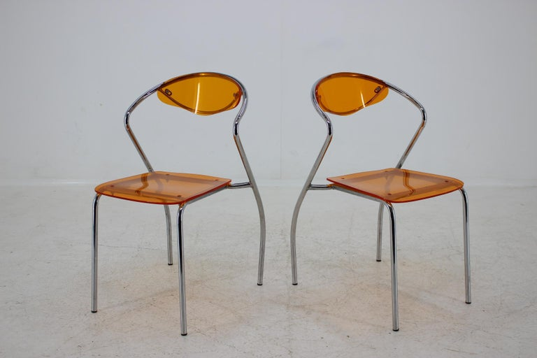 Czech Set of Three Dining Chairs, 1980s For Sale