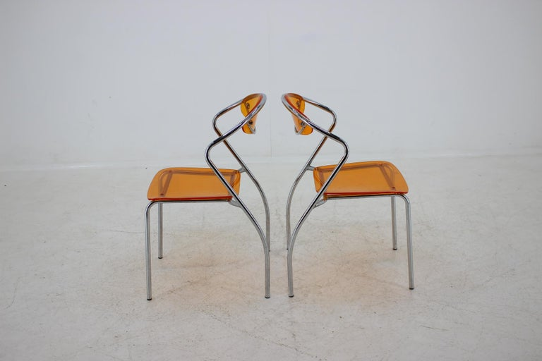 Late 20th Century Set of Three Dining Chairs, 1980s For Sale