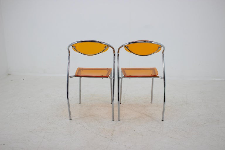 Set of Three Dining Chairs, 1980s For Sale 1