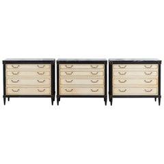 Set of Three Dressers in the Style of Maison Jansen Louis XVI