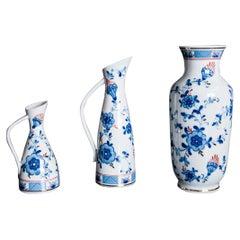 Set of Three Echt Kobalt Vases