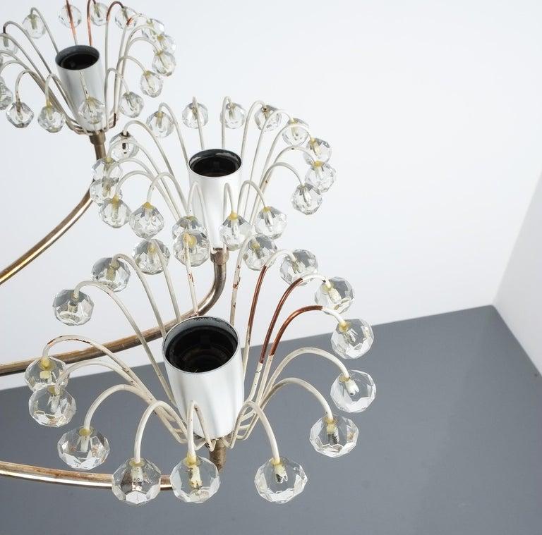 Set of Three Emil Stejnar Chandeliers Silver Glass, Austria For Sale 1