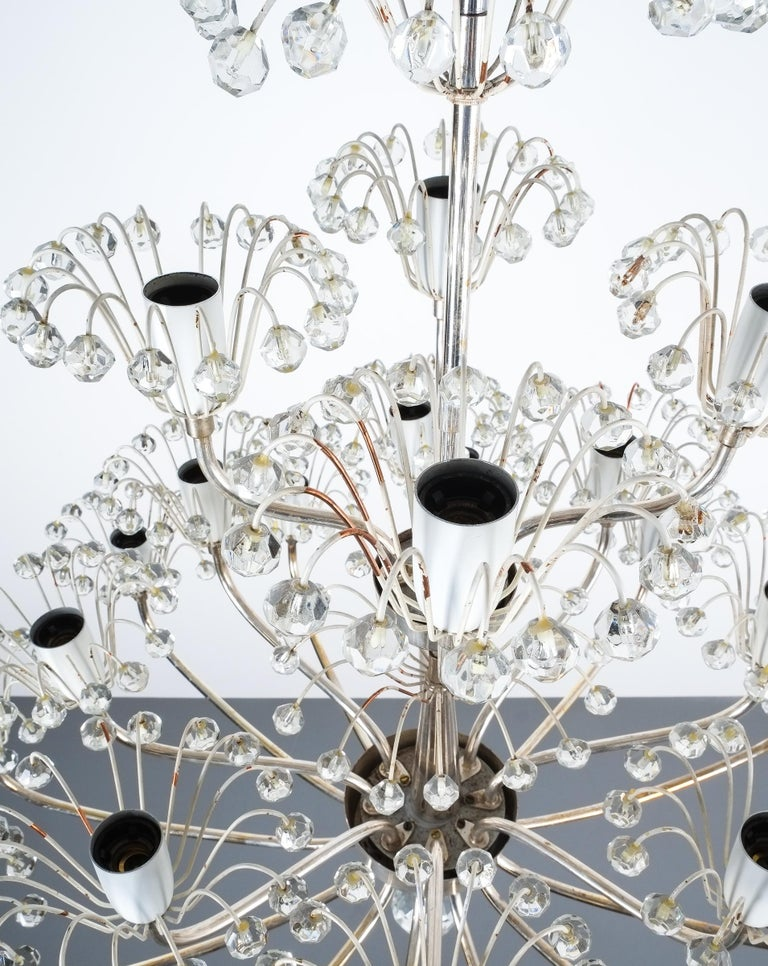 Set of Three Emil Stejnar Chandeliers Silver Glass, Austria For Sale 2