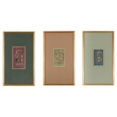 Set of Three Framed Antique Chinese Textiles Qing Dynasty Provenance