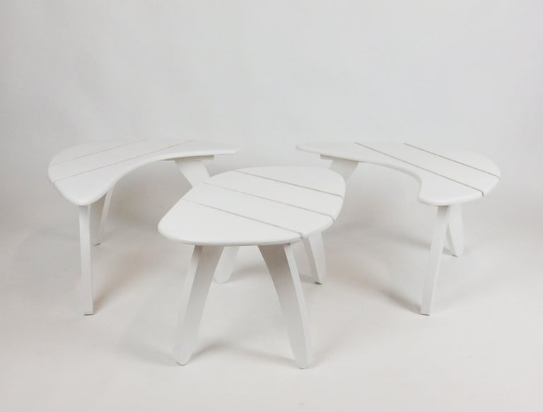 French Set of Three Garden Coffee Tables For Sale