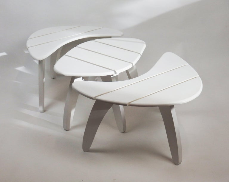Mid-20th Century Set of Three Garden Coffee Tables For Sale