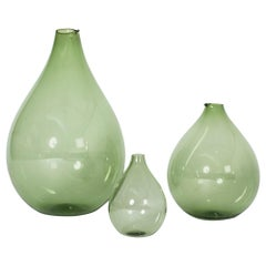 Set of Three Glass Vases by Kjell Blomberg