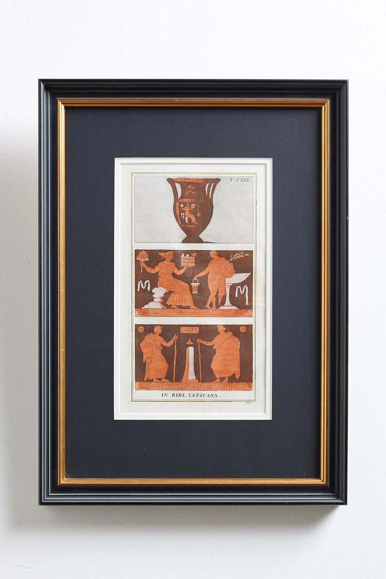 Italian Set of Three Greco-Roman Neoclassical Engravings after Passeri For Sale