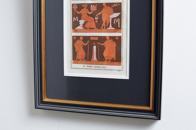 Set of Three Greco-Roman Neoclassical Engravings after Passeri In Excellent Condition For Sale In Oakland, CA