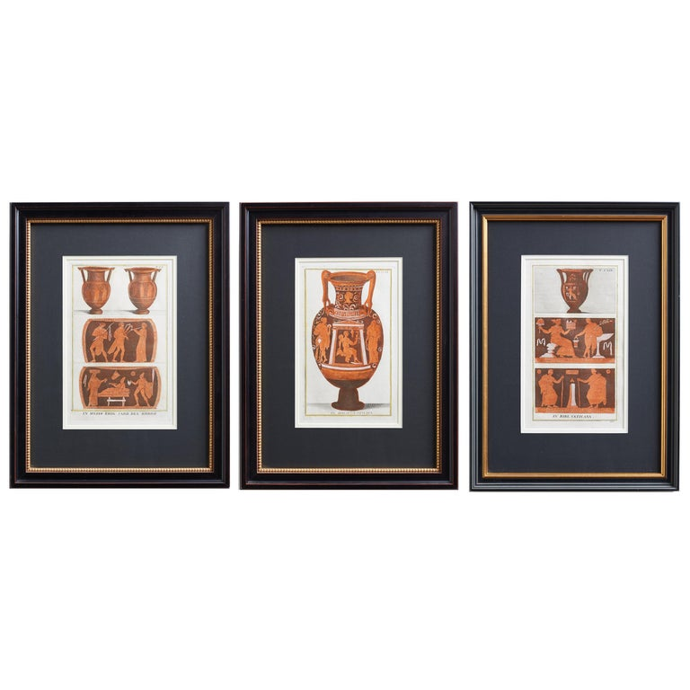 Set of Three Greco-Roman Neoclassical Engravings after Passeri For Sale