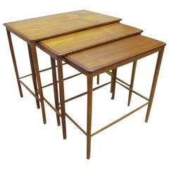 Set of Three Greta Jalk Nesting Tables in Teak