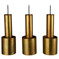 "Set of Three ""Handgrenade"" Pendant Lights Designed by Alvar Aalto"