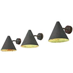 Set of Three Hans-Agne Jakobsson 'Tratten' Copper Wall Lights