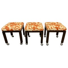 Set of Three Harvey Probber Stools