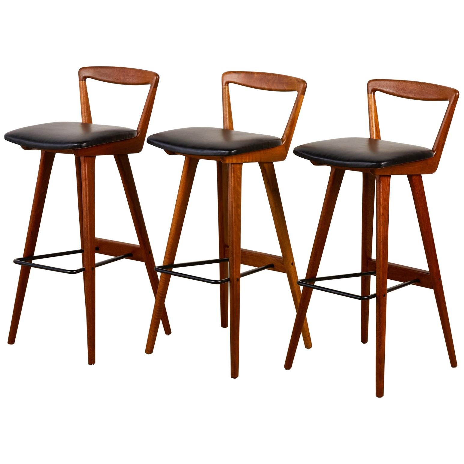 Set of Three Henry Rosengren Hansen Bar Stools