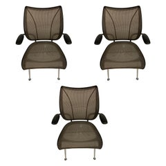 Set of Three Humanscale Liberty Chairs by Niels Diffrient Signed