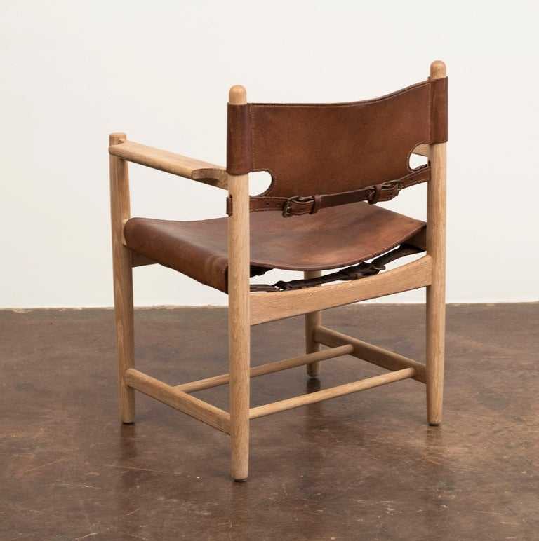 Danish Set of Three Hunting Dining Chairs by Borge Mogensen for Fredericia, Denmark For Sale