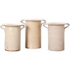 Set of Three Italian 19th Century Chiminea Pots