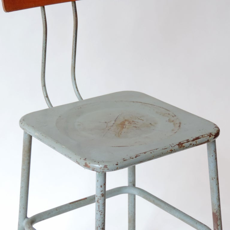 Mid-20th Century Set of Three Italian Industrial Chairs, Italy, 1950s For Sale