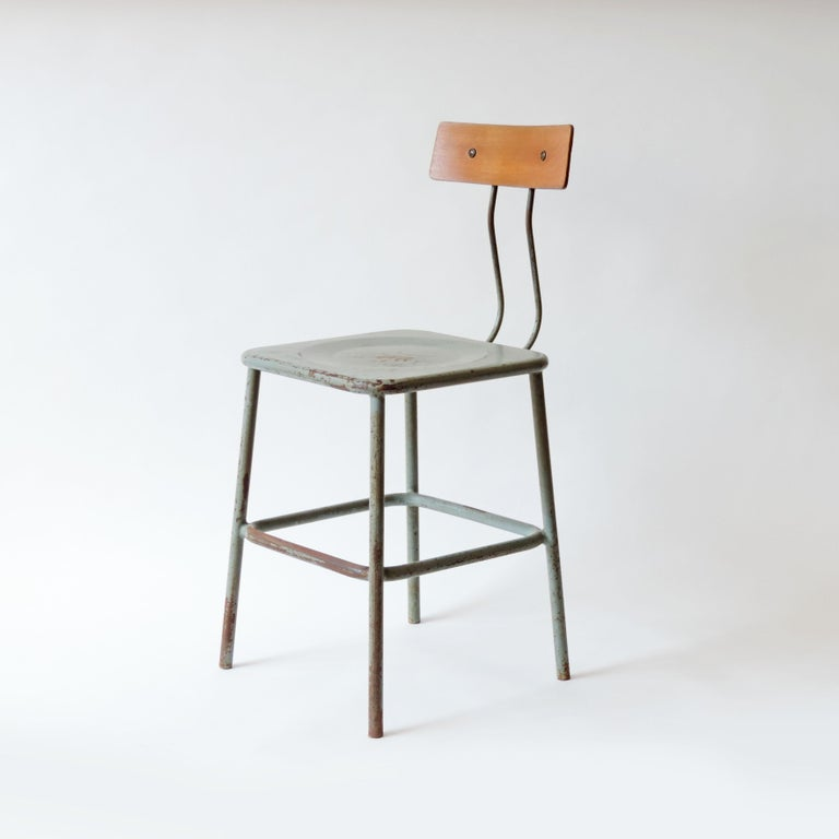 Set of Three Italian Industrial Chairs, Italy, 1950s For Sale 2