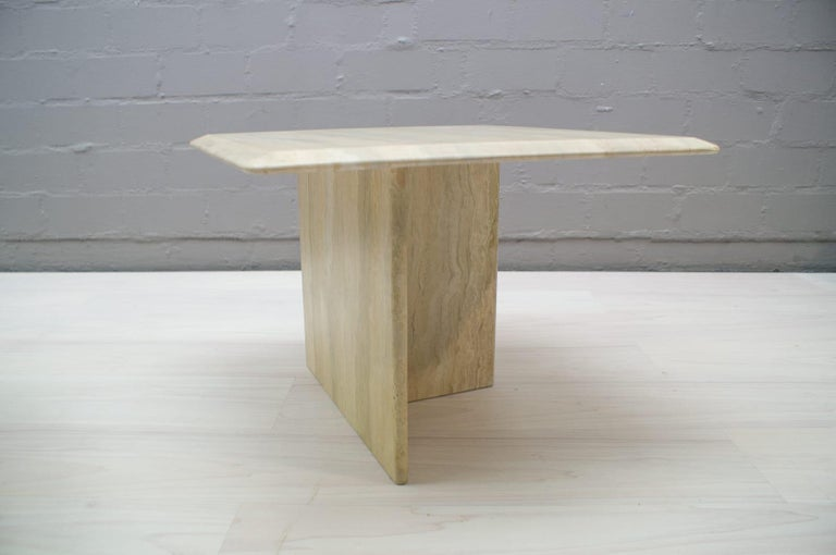 Set of Three Italian Travertine Side or End Tables, 1970s For Sale 9