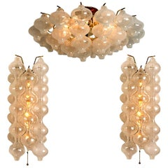 Set of Three Kalmar 'Tulipan' Light Fixtures, 1960s