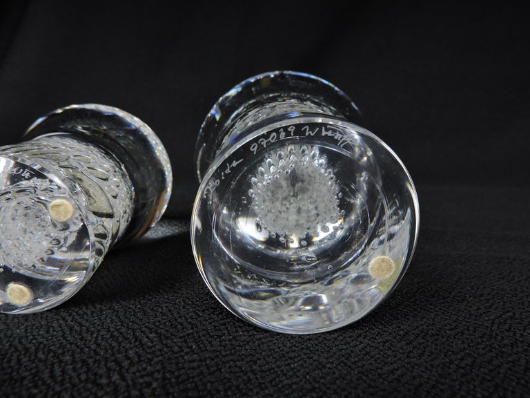Set of Three Kosta Boda Paperweights Mushrooms and Owl by Lindstrand and Warff For Sale 1