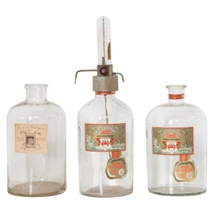 Set of Three Large Boldoot Perfume Filling Bottles from 1954