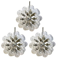 Set of Three Lightolier 1960s Mid-Century Modern Sputnik Atomic Chandelier