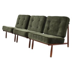 Set of three Lounge Chairs in Beech by Alf Svensson for DUX, Sweden, 1952