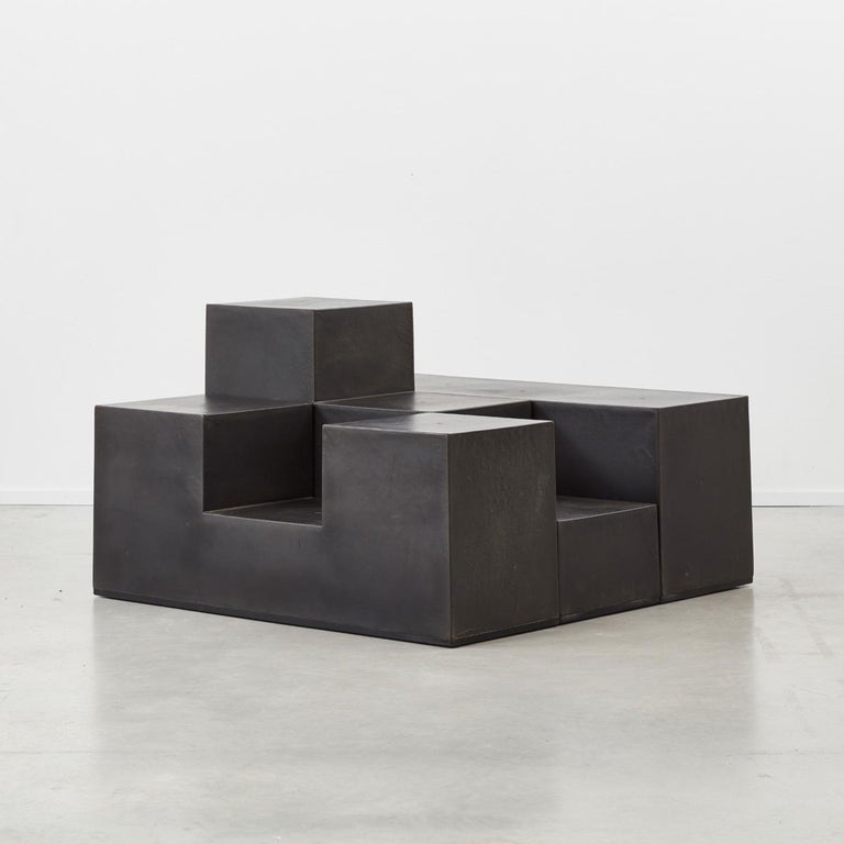 Italian architect Mario Bellini is well known for creating powerful, thoughtful and creative pieces of design. The Gli Chess series works both as modular tables or seating. The versatility in interconnectivity between the differing forms places