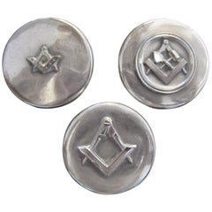 Set of Three Masonic Silver Plated Keepsake Holders