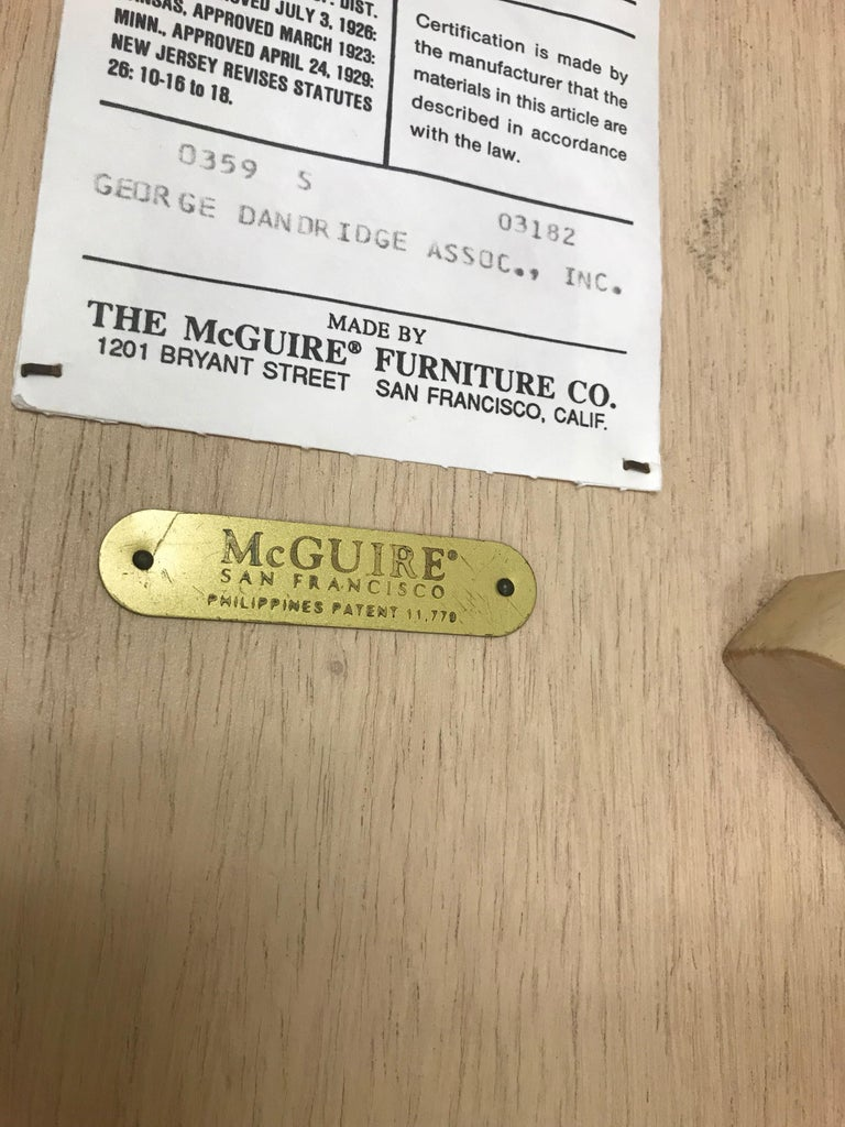 Set of Three McGuire Bar or Counter Stools For Sale 9