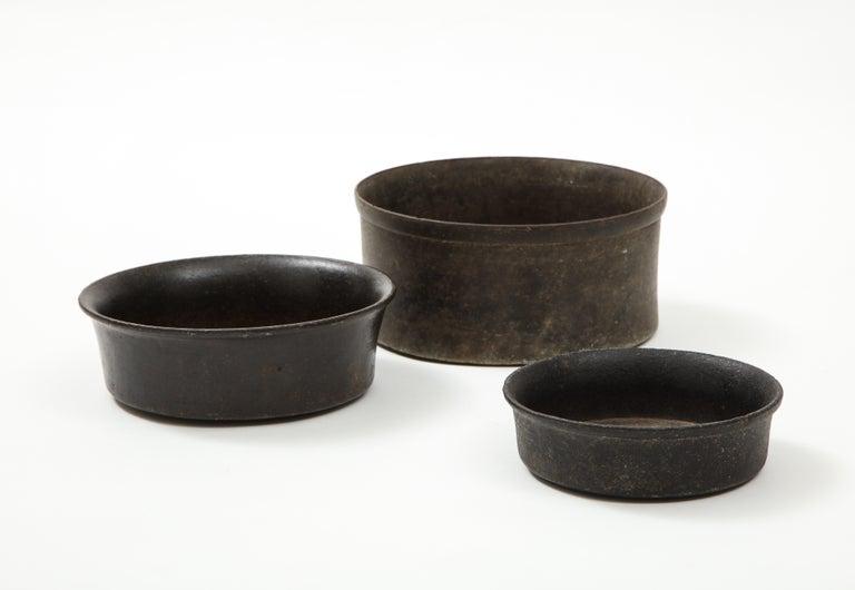 Pre-Columbian Set of Three Mesoamerican Bowls, 'PreColumbian/Chauvin' 900 B.C. - 1500 A.D. For Sale
