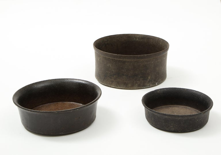 Peruvian Set of Three Mesoamerican Bowls, 'PreColumbian/Chauvin' 900 B.C. - 1500 A.D. For Sale