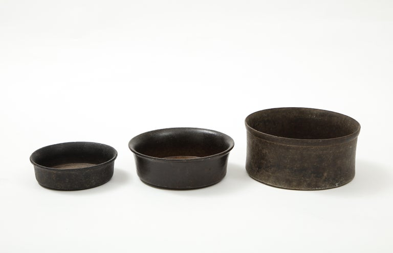 Set of Three Mesoamerican Bowls, 'PreColumbian/Chauvin' 900 B.C. - 1500 A.D. In Good Condition For Sale In Brooklyn, NY