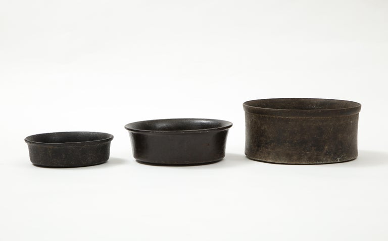 Stone Set of Three Mesoamerican Bowls, 'PreColumbian/Chauvin' 900 B.C. - 1500 A.D. For Sale