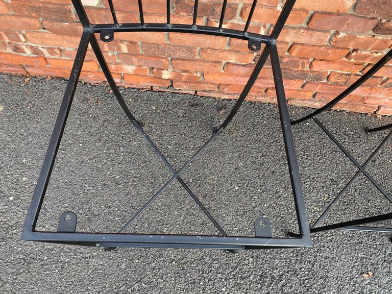 Set of Three Metal Bar Stools In Good Condition For Sale In Livingston, NJ