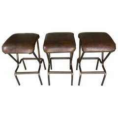 Set of Three Mid-Century Modern Bar Stools by Daystrom