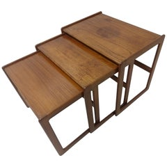 Set of Three Mid-Century Modern Danish Teak Nesting Tables