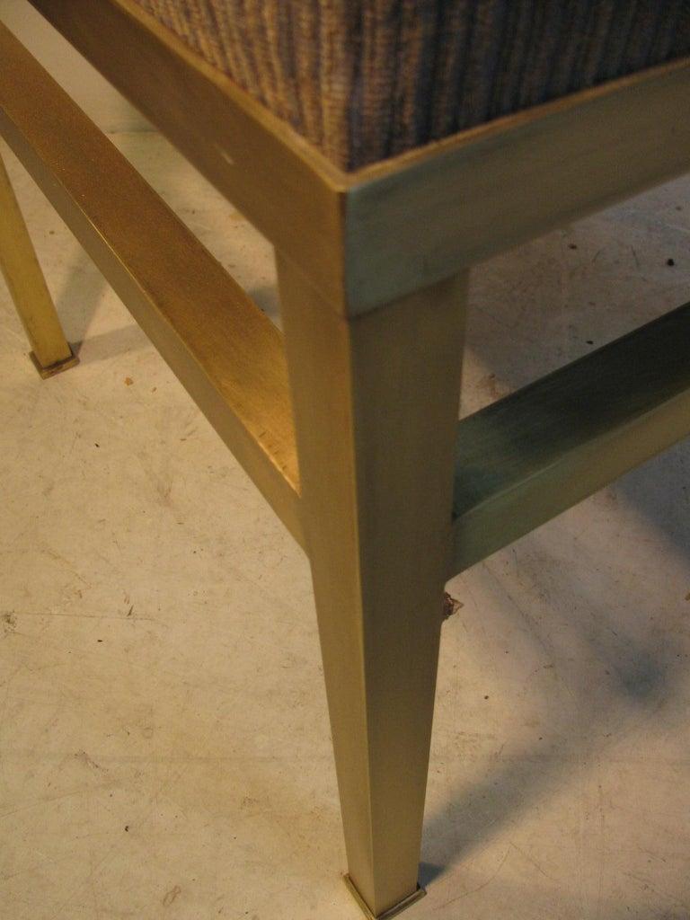 Mid-Century Modern Hollywood Regency Brass Ottoman Footstool For Sale 4