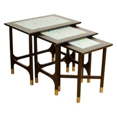 Set of Three Mid-Century Modern Nesting Tables, American, 1960