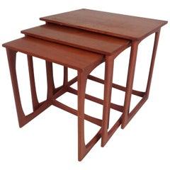 Set of Three Mid-Century Modern Teak Nesting Tables