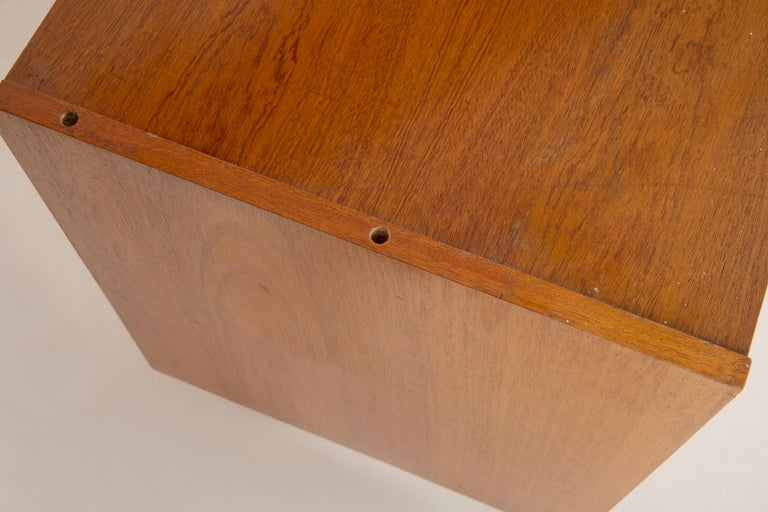 Set of Three Mid-Century Modern Vintage Sideboards, Wood, Poland, 1960s For Sale 4