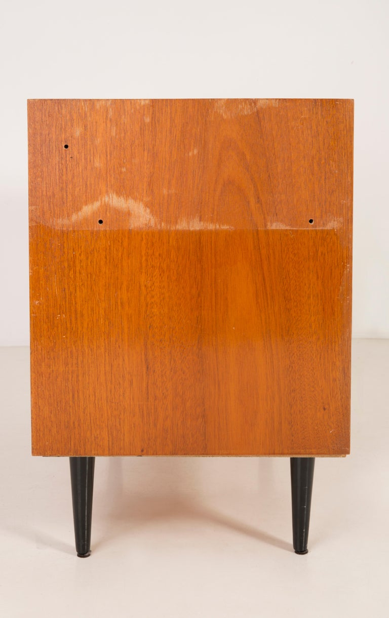 Set of Three Mid-Century Modern Vintage Sideboards, Wood, Poland, 1960s For Sale 5