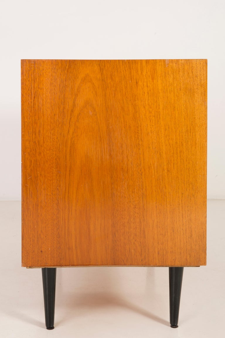 Set of Three Mid-Century Modern Vintage Sideboards, Wood, Poland, 1960s For Sale 6