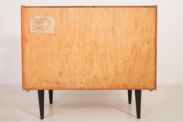 Set of Three Mid-Century Modern Vintage Sideboards, Wood, Poland, 1960s For Sale 7